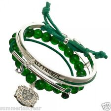 "HARRY POTTER SLYTHERIN ARM CANDY PARTY CHARM BRACELET SET: CREST, ""S"", AND MORE!"