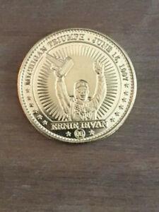1998 Pinnacle Mint Coins - Artist Proof Gold Plate - ERNIE IRVAN (1 of 100 Made)