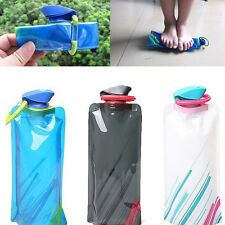 Portable 700ml Water Bottle Bag Cup Sport For Hiking Reusable BPA FREE Blue