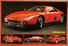 (PRL) 1991 FERRARI 348 AUTO STORICA TOP CAR VINTAGE AFFICHE PRINT CAR POSTER