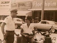 VINTAGE LOS ANGELES CA OR FL POLICEWOMAN TICKET MOTORCYCLE BIKE VERNACULAR PHOTO