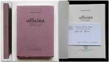 Daniele Grassi OFFICINA Autografato Poesie 1979 All'insegna del pesce d'oro