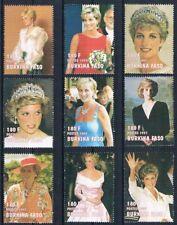 Burkina Faso, Prinzessin Diana, Satz kompl. postfr.**