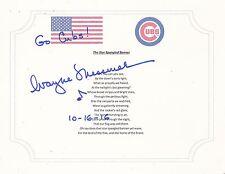 CHICAGO CUBS WAYNE MESSMER SIGNED STAR SPANGLED BANNER LYRIC SHEET