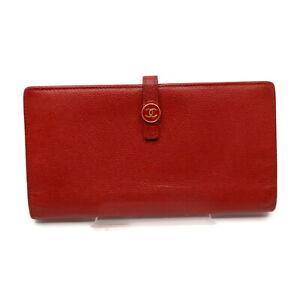 Chanel Long Wallet  Reds Caviar Skin 2202436