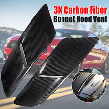 Pair Real Carbon Fiber Engine Hood Vents Body Kit For Ford Mustang