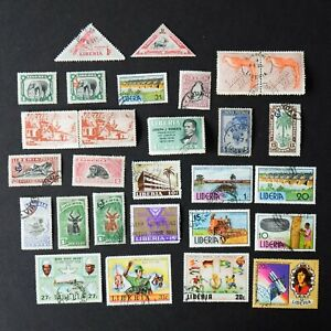 Vintage LIBERIA Official Postage Stamps Set Birds 1930s 1950s Bundle Lot - 625