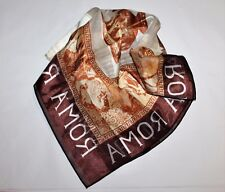 ROMA Designer Brown ROMA Silky Neck Scarve NEW