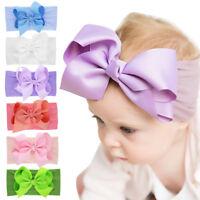 Bunny Ears Nylon Headband - Baby Hairband Bowknot Turban Girls Hair Band