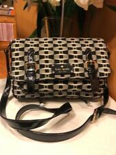 Kate Spade Essex Scout black white overbody purse messenger #pxru3065 (pu300