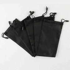 Black Microfiber Pouch Bag Soft Cleaning Case Eyeglasses Sunglasses L