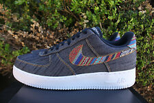 NIKE AIR FORCE 1 07 LV8 SZ 14 AF1 AFRO PUNK DARK OBSIDIAN WHITE 823511 402