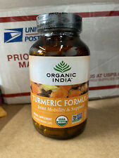 Organic India Turmeric Formula Joint Mobility Support 180 Veg Caps Exp 09-2022