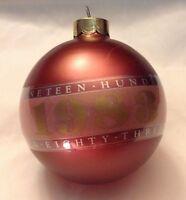 1983 Hallmark Glass Keepsake Christmas Ornament of Year retro vintage 80s style