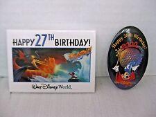 Disney Happy 27th & 28th Birthday Park Pins Wizard Mickey Epcot Dragon Lot of 2