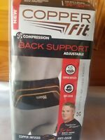 Copper Fit CFBACK-P Compression Back Support Belt - Black with Copper Trim