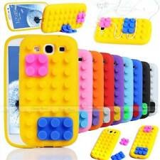 3D BUILDING LEGO BLOCKS SOFT SILICONE STAND COVER CASE FOR SAMSUNG GALAXY III S3