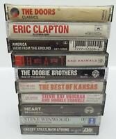 10 Classic Rock Music Cassette Tape Lot (Lot 221) Doors / Clapton / Kansas