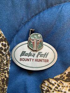 DISNEY PIN CAST EXCLUSIVE Star Wars NAME TAG NAME BADGE BOBA FETT BOUNTY HUNTER