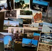 Vintage Random lot of 50 postcards from 1910s to 70s -Landmarks Cities Comic Etc
