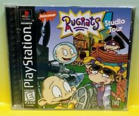 Rugrats Studio Tour Playstation 1 2 PS1 PS2 Game Tested Working 1 Owner Complete