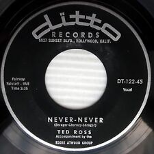 TED ROSS never never / ding dong bell Teen POP 45 on DITTO e4885