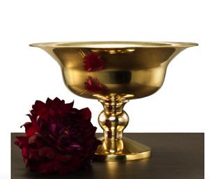 GOLD METAL MODERN Pedestal URN Compote Vase Bowl Party Wedding Reception 10 x 7