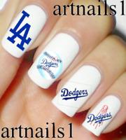 LA Dodgers Baseball Sports Nail Art Water Decals Stickers Manicure Salon Polish