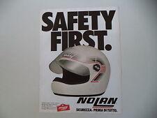 advertising Pubblicità 1982 CASCO HELMET NOLAN N32 N 32