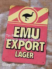 EMU EXPORT metal SIGN vintage art Perth Western AUSTRALIAN BEER bar PUB tin WA