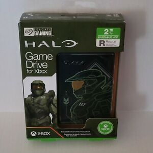 Seagate XBOX Game Drive 2TB Portable HD Halo Master Chief Limited Edition NEW!