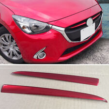 Red Front Grille Grill Inserts Cover Trim Fit for Mazda 2 Demio 2015-2018 DJ DL
