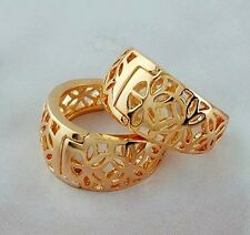 Premier Designs 9K Gold Filled Womens Hollow Hoop Earrings,F1555