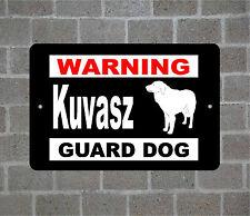 Kuvasz warning Guard Dog breed metal aluminum sign