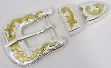 "BELT BUCKLES metal casual dress western golf accessories 3pc BUCKLE SET 3/4"" NEW"