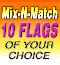 Swooper 11.5' Feather Flag Banner Sign MIX N MATCH Wholesale 10 Pack, Flags Only