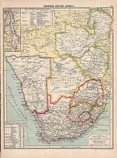 1930 MAP ~ BRITISH SOUTH AFRICA CAPE OF GOOD HOPE TRANSVAAL NYASALAND
