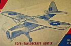 "24"" TAILORCRAFT AUSTER British Rubber Power Balsa Airplane Kit Model Craft 50F6"