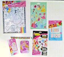 Disney Princess Crafts Stocking Stuffer Gift Set Rapunzel Cinderella Ariel Belle