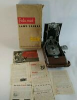 Vintage Polaroid 95A Land Camera Genuine Leather Case Orig Box & Instructions