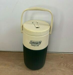 Vintage Coleman Polylite Green 2L Cool Drinks Cooler Container Camping Caravan