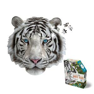 Madd Capp I Am White Tiger Jigsaw Puzzle - 300 Piece Animal Head Puzzle