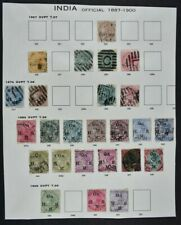 INDIA, QV - KGVI, a collection on 7 album pages, mainly used condition.