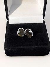 Phantastische Ohrringe Silber 925 mit Labradorit, Finnland Modernist Design