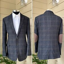 Joseph Abboud Mens Blazer Sport Coat Jacket Two Button Wool Size 44L Slim Fit