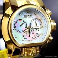 Invicta Reserve Bolt Zeus Magnum 52mm Dual Platinum MOP Dials White Watch New