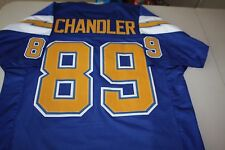 WES CHANDLER #89 WR SEWN STITCHED HOME THROWBACK JERSEY SIZE XLG BOLTS
