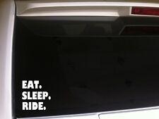 "Eat Sleep Ride vinyl window sticker car decal 6"" *B11* horse motorcycle atv"