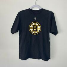Reebok T-Shirt Men's Size S Black Boston Bruins NHL Hockey #91 Marc Savard