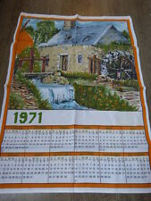 calendrier tissus moulin ,1971 (cp1)